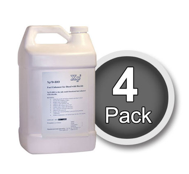 Xp3 biocide 4 pack of 1 gallon bottles